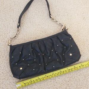Black leather clutch/wristlet
